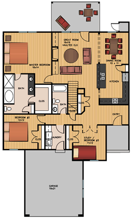 Luxury Home #4 floor plan